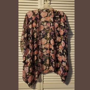 et Seal Kimono Cover Up Boho Floral One Size